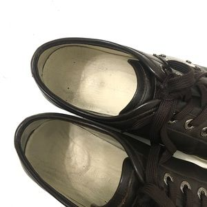 Dolce & Gabbana Shoes - Dolce & Gabbana Men's Brown Leather Sneakers